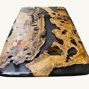 Black Epoxy Acacia Table-dining-living-kitchen-office-coffee-design Resin Table