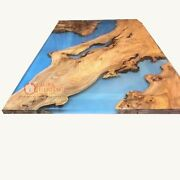 Epoxy Resin River Wood Dining Coffee Table Personalized Gift For Men And Women