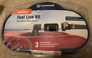 Attwood Universal Boat Fuel Line Kit W/ Tank Fitting 6andrsquox3/8andrdquo Line
