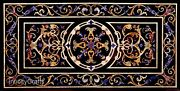 30 Inch Marble Coffee Table Top Semi Precious Stones Inlaid Patio Table For Lawn