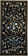 30 Inches Marble Coffee Table Top Inlay Semi Precious Stone Patio Table For Home