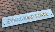 Rare Old Railway Station Booking Hall Wooden Sign With Metal Letters