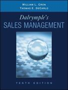 Dalrymple's Sales Management Concepts And Cases By William L. Cron 9780470169650