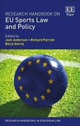 Research Handbook On Eu Sports Law And Policy By Jack Anderson 9781784719494