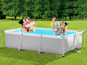 Outdoor Above Ground Swimming Pool 10 Ft X 6.8 Ft Metal Frame Kids And Adults New