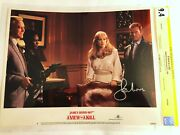 Cgc 9.4 Ss A View To A Kill 1985 Lobby Card 7 Signed Roger Moore James Bond 007