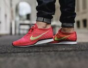 Nike Flyknit Racer Fireberry Volt/ Pink Flash [526628-607] Menand039s Size 8