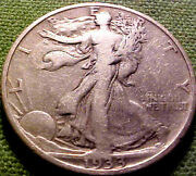 1933-s Walking Liberty Half Dollar 50c Very Nlce Better Date Silver Coin 90ym