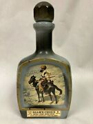 1979 Vintage Collectible Jim Beam's Choice Frederic Remington Indian Trapper
