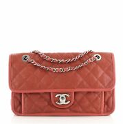 French Riviera Flap Bag Quilted Caviar Medium