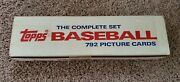 1985 Topps Baseball Factory Sealed Complete Set 792 Mark Mcgwire Clemens Rc