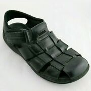 Clarkand039s Menand039s Fisherman Sandals Woven Black Closed To Shoes Jensen Sz 9 M
