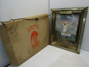 B Vintage Jesus Cross Wall Hanging Light Up Framed Print Picture Religious Works