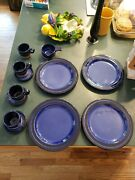 Vintage Nittsjo Sweden Pottery Plates And Cups Mid Century Thomas Hellstrom
