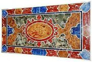 30 Inches Marble Coffee Table Top Multi Color Stone Inlaid Center Table For Home