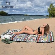 Picnic Blanket Printed Waterproof Large Mat Beach Outdoor Foldable Carry Strap