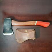 Vintage Boy Scouts Of America Official Plumb Hatchet W/ Red Handle And Blade Cover