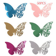 50pcs Butterfly Table Mark Wine Glass Name Place Card Wedding Party Bar Decoy_bc