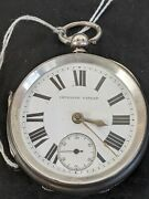 Antique Victorian Sterling Silver Cased Pocket Watch1893 168g Charles Harris