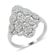 Rhapsody 950 Platinum White Diamond Cluster Ring Jewelry For Her Size 7 Ct 1