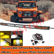 50 Inch Curved Led Light Bar For Jeep Ford Ford F250 F350 Truck Suv 4x4 4wd 52