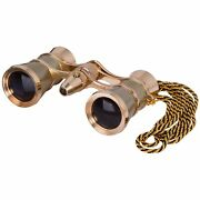 Levenhuk Broadway 325f Opera Glasses Gold, With Led Light And Chain