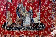 The Lady And The Unicorn Medieval Style Large Wall Tapestry France