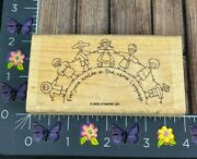 Stampin' Up Everyone Smiles In The Same Language Children Rubber Stamp J100