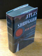 Atlas Shrugged 1957 Ayn Rand, First Edition, 1st Printing In Facsimile Wrapper