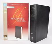 Niv Life Application Study Bible Personal Size Index Leather Zondervan Like New