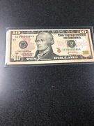Series 2004a 10 Single Note - Low Serial Number - Richmond