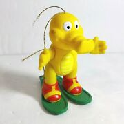 1989 Roy Rogers 3.5 Yellow Alligator Snow Shoes Kids Meal Toy Figure Ornament