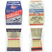2 Vintage Matchbooks Full Socony Mobil Oil Mobilgas And Imperial Esso Service