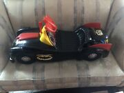 Vintage 1966 Marx Batman Batmobile Spring Wound/ride On Toy With Microphone