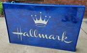 Hallmark Fiber Optic Store Display Advertising Sign Light Up Double Sided Large