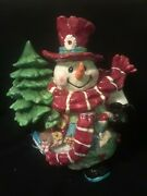 Home Interiors Christmas Snowman Cookie Jar Patches The Snowman Ceramic 12 Lrg