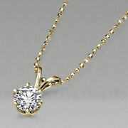 8300 Yellow Gold Solitaire Diamond Pendant Necklace 1.17 Ct 14k Si2 52986278