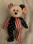 Rare Original 1999 Ty Spangle Pink Face Beanie Baby W/ Multiple Tag Errors Kr