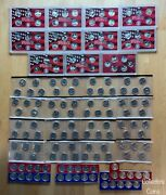 1999 -2009 Complete Mint Packaged 168 State Quarter Pd And S Silver Bu And Proof Set