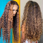 Ombre Water Wave Lace Front Brazillian Hd Highlight Loose Deep Human Hair Wigs