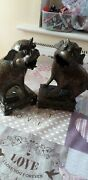 Antique Chinese Bronze Mythical Jeweled Beasts Foo Dogs C1880