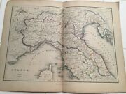 Antique Maps, Rome, Italy, Hand Colored 1870s Map Set Of 4