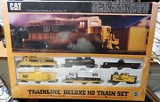 Walthers Trainline Cat Deluxe Train Set Sealed In Box Limited Ed. Ho Scale Lqqk