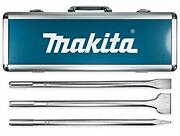 Makita 3 Piece - Sds-max Chisel Andamp Point Bit Set For Sds Max Rotary Hammers