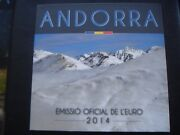 Andorra 2014 Year Coin Set From 1 Cent - 2 Euro 8 Coins 388 Euro In Folder