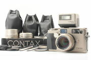 [almost Mint] Contax G2 + 3 Lens 28 45 90mm + Tla200 Flash + Strap From Japan