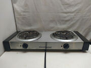 Continental Electric Double Burner Table Top Cooker Buffet Coffee Tea Warmer