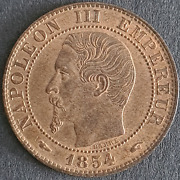 France Napoleon Iii 5 Centimes 1854 A Uncirculated Lustre Beautiful Coin