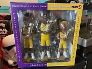 Forever Collectibles 2002 Nba Champs Lakers Bobbleheads Kobe Shaq Fisher 3 Pack