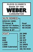 Floyd Clymerand039s Book Of The Weber Carburetor Theory-install-tune-up-maintenance
